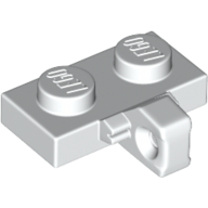 LEGO part 44567b Hinge Plate 1 x 2 Locking with 1 Finger on Side, without Groove in White