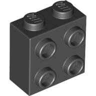 LEGO part 22885 Brick Special 1 x 2 x 1 2/3 with Four Studs on One Side in Black