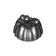 LEGO part 68212 Minifig Hair, Small Tuft in Black
