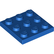 LEGO part 11212 Plate 3 x 3 in Bright Blue/ Blue