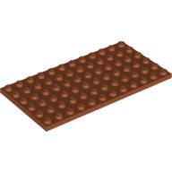 LEGO part 3028 Plate 6 x 12 in Dark Orange