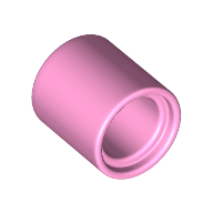 LEGO part 18654 Technic Pin Connector Round 1L [Beam] in Light Purple/ Bright Pink
