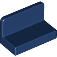 LEGO part 4865b Panel 1 x 2 x 1 [Rounded Corners] in Earth Blue/ Dark Blue