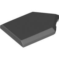 LEGO part 22385 Tile Special 2 x 3 Pentagonal in Dark Stone Grey / Dark Bluish Gray