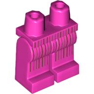 LEGO part 970c00pr2077 Legs and Hips with Dark Brown Pinstripes Print (60's Joker) in Bright Purple/ Dark Pink