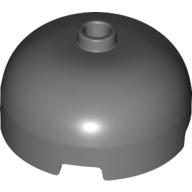 LEGO part 49308 Brick Round 3 x 3 Dome with Center Stud in Dark Stone Grey / Dark Bluish Gray