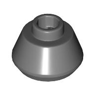 LEGO part 33492 Cone 1 1/2 x 1 1/2 x 2/3 in Dark Stone Grey / Dark Bluish Gray
