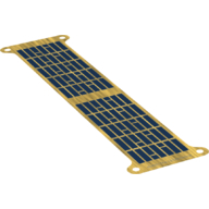LEGO part 78267 Sheet with 2 Solar Panels print in none