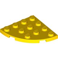 LEGO part 30565 Plate Round Corner 4 x 4 in Bright Yellow/ Yellow