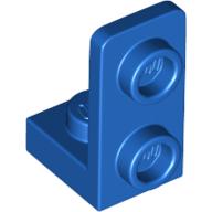 LEGO part 73825 Bracket 1 x 1 - 1 x 2 Inverted in Bright Blue/ Blue