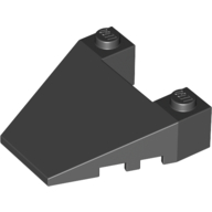LEGO part 93348 Wedge Sloped 4 x 4 Taper, with Stud Notches in Black