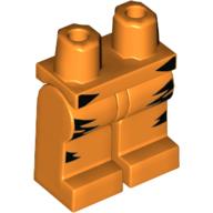 LEGO part 970c00pr2069 Legs and Hips Black Tiger Stripes in Bright Orange/ Orange