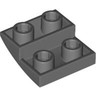 LEGO part 32803 Slope Curved 2 x 2 Inverted in Dark Stone Grey / Dark Bluish Gray