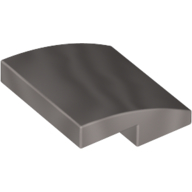 LEGO part 15068 Slope Curved 2 x 2 x 2/3 in Cool Silver Drum Lacquered/ Metallic Silver