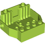 LEGO part 30149 Vehicle Base 6 x 5 x 2 [2 Seats] in Bright Yellowish Green/ Lime