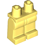 LEGO part 970c00 Legs and Hips [Complete Assembly] in Cool Yellow/ Bright Light Yellow