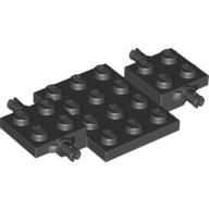 LEGO part 68556 Vehicle Base 4 x 7 x 2/3 in Black