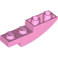 LEGO part 13547 Slope Curved 4 x 1 Inverted in Light Purple/ Bright Pink