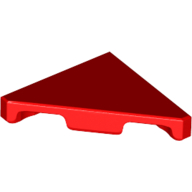 LEGO part 35787 Tile 45° Cut 2 x 2 in Bright Red/ Red