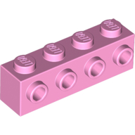 LEGO part 30414 Brick Special 1 x 4 with 4 Studs on One Side in Light Purple/ Bright Pink