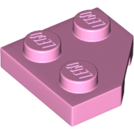 LEGO part 26601 Wedge Plate 2 x 2 Cut Corner in Light Purple/ Bright Pink