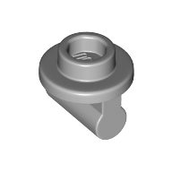 LEGO part 25893 Plate Round 1 x 1 with Open Stud and Bar on Underside in Medium Stone Grey/ Light Bluish Gray
