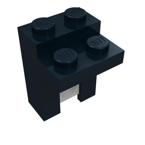 LEGO PART 30014 DARK GREY ARM HOLDER BRICK 1 X 2 WITH 2 FINGERS X 2 PCS