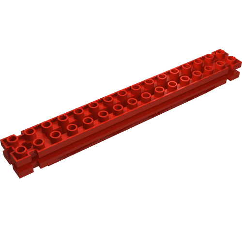 Tile 2 x 2 with Groove in Red part no 3068b 16x Lego