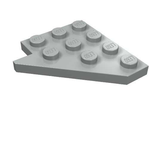 6x Lego part no 4083 Bar 1 x 4 x 2 with Studs in White