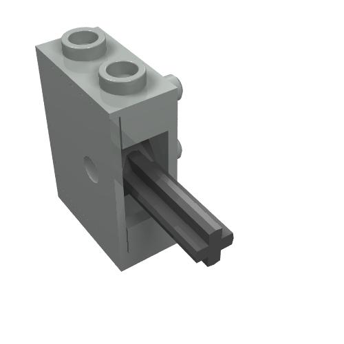 LEGO 5102c06 Technic Light Gray Hose Pneumatic 4mm D 6L  4.8cm
