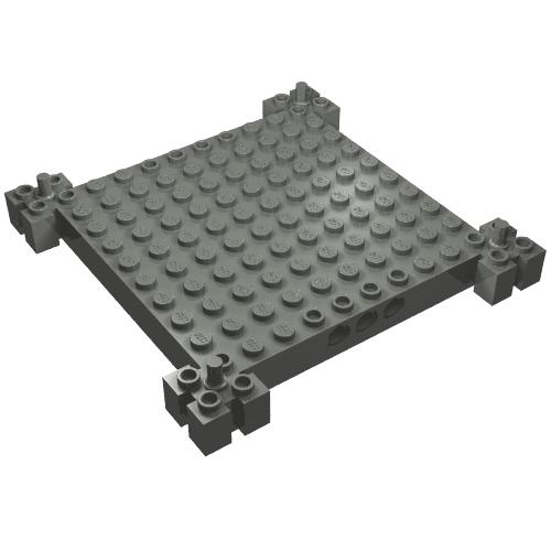 LEGO PART 4445 LIGHT BLUISH GREY SLOPE 45 2 X 8 FOR 1 PIECE