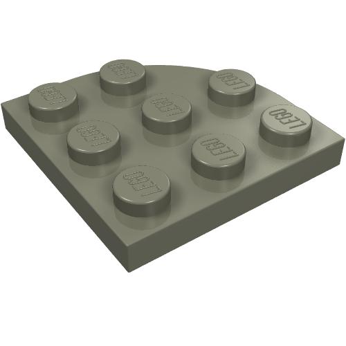LEGO 2450 CORNER PLATE 3x3 LIGHT TAN QTY x 4 BRAND NEW PART