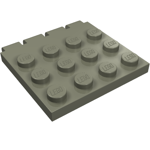 New LEGO Lot of 8 Dark Bluish Gray 1x3 Flat Building Plate Pieces