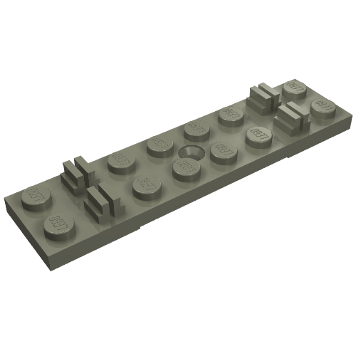 8 Black 1x4 Track Slotted Bricks ~ Lego ~ NEW ~
