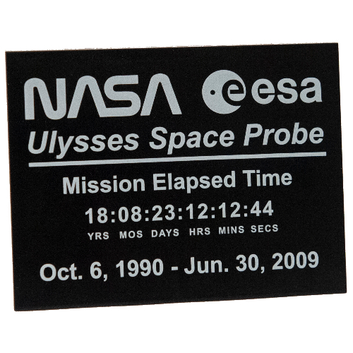 LEGO part 4515pr0005 Slope 10° 6 x 8 with NASA ESA Ulysses Space Probe print in Black