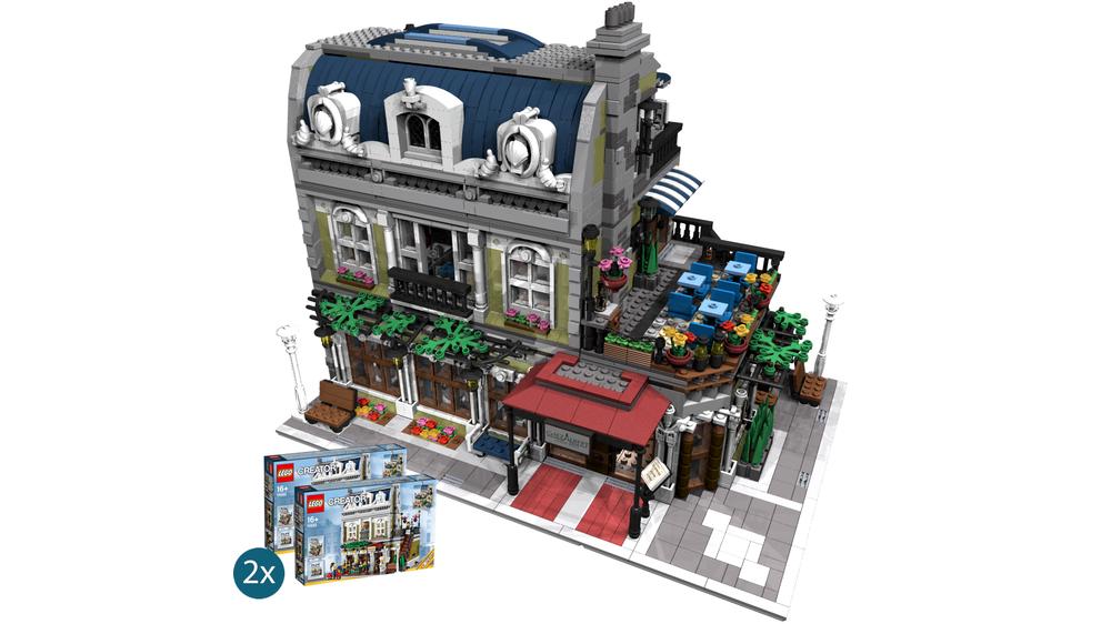 LEGO MOC-10489 Parisian Restaurant Corner (Modular Buildings