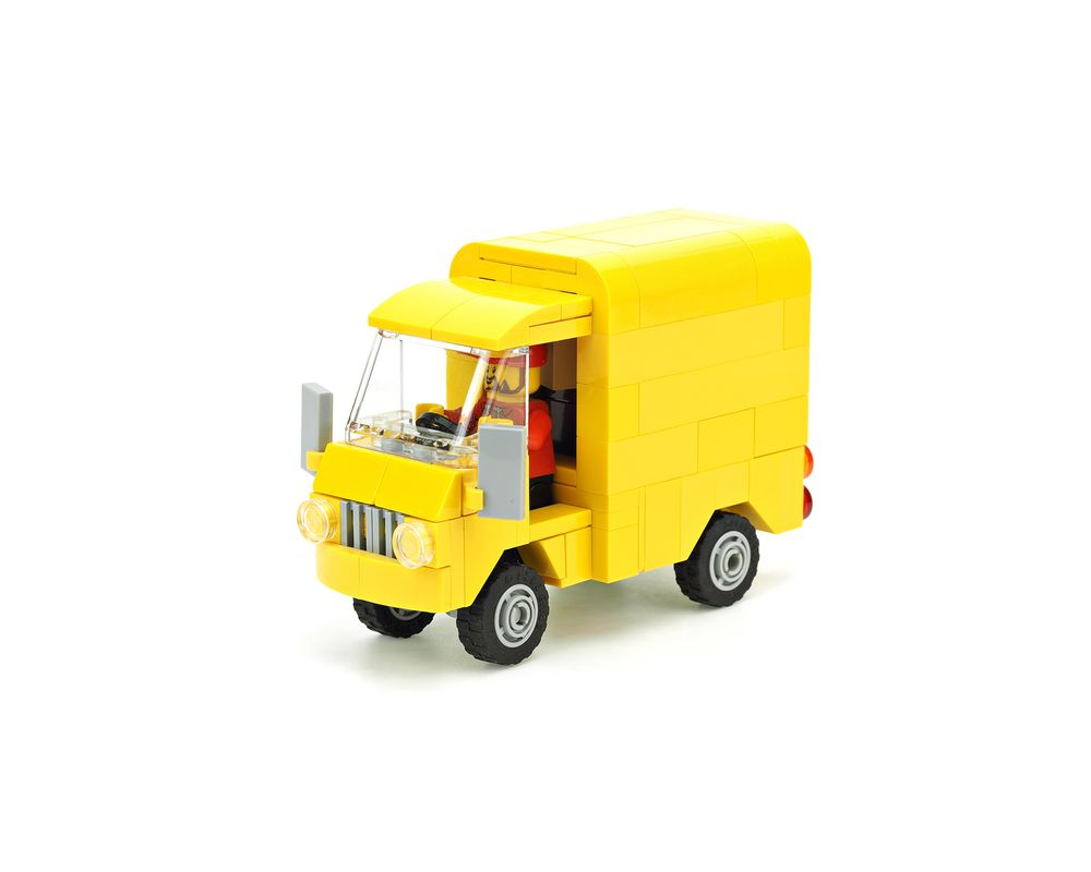 CITY SERIES MOC 10795 Yellow Post Van by De_Marco MOCBRICKLAND