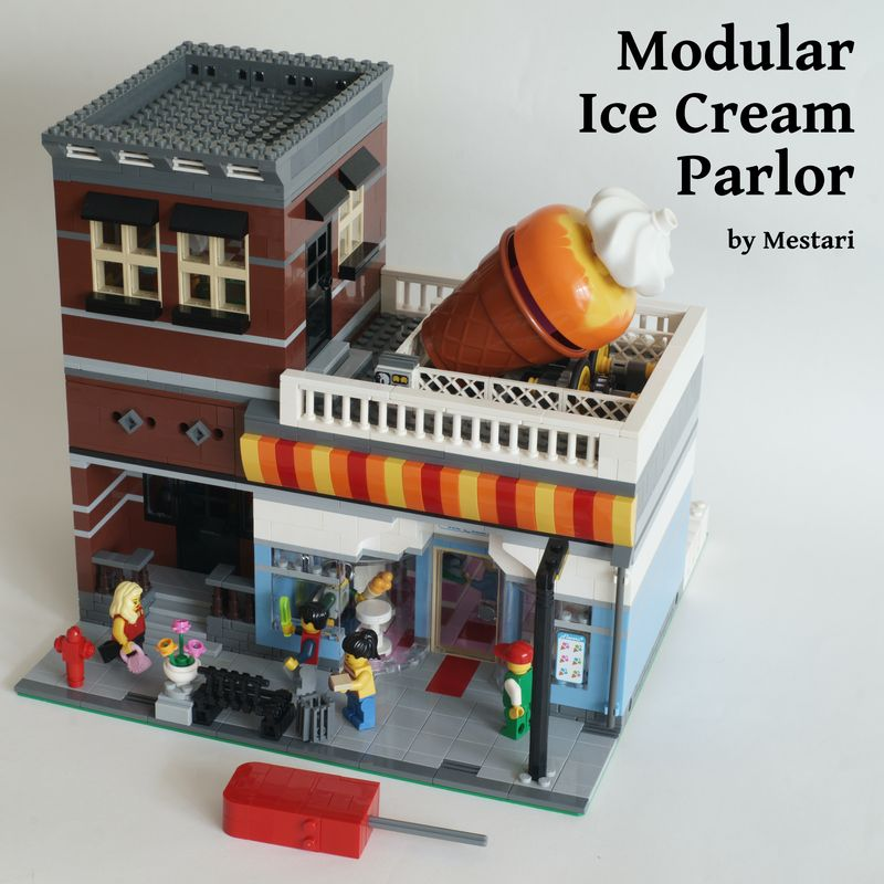 LEGO MOC-10851 Modular Ice Cream Parlor with Power Functions