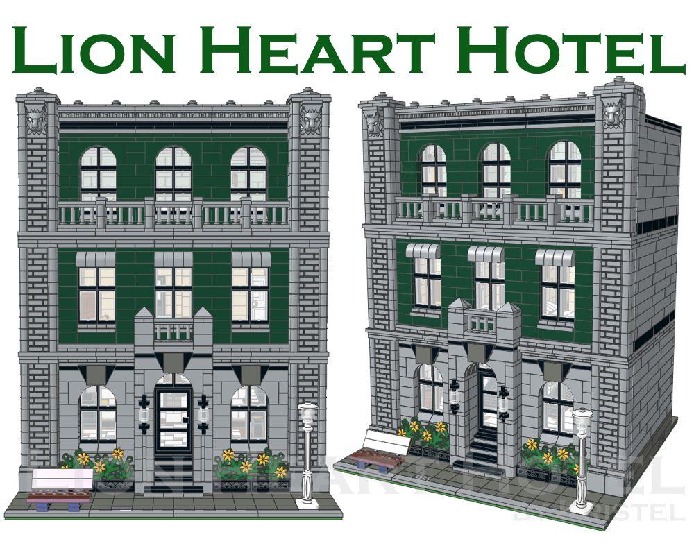 STREET SIGHT MOC 11223 Lion Heart Hotel by Kristel MOCBRICKLAND