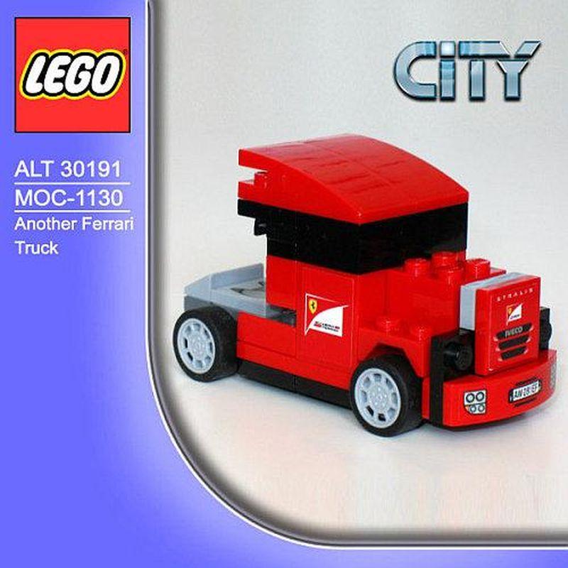 Ferrari Truck: LEGO MOC-1130 Another Ferrari Truck (Racers > Ferrari 2013