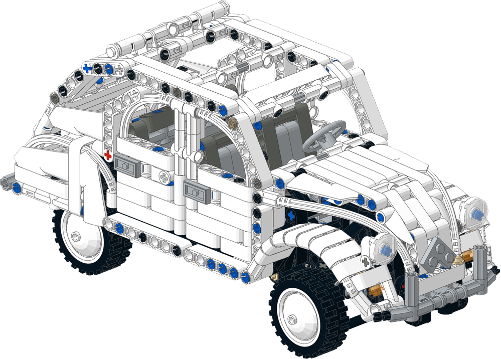 LEGO MOC-11465 Citroen 2CV White (Technic 2017