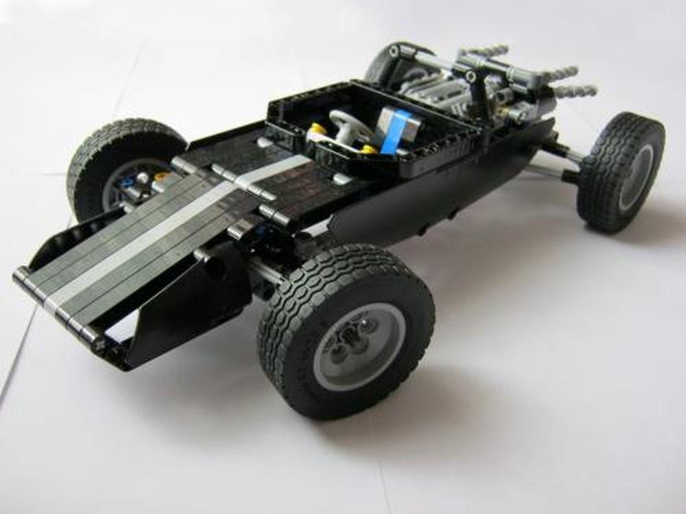 LEGO MOC-1175 9395-rebrick, 60s race-car (Technic 2014