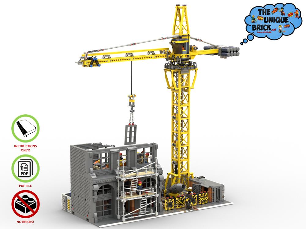LEGO MOC-1228 MODULAR CONSTRUCTION SITE (Modular Buildings