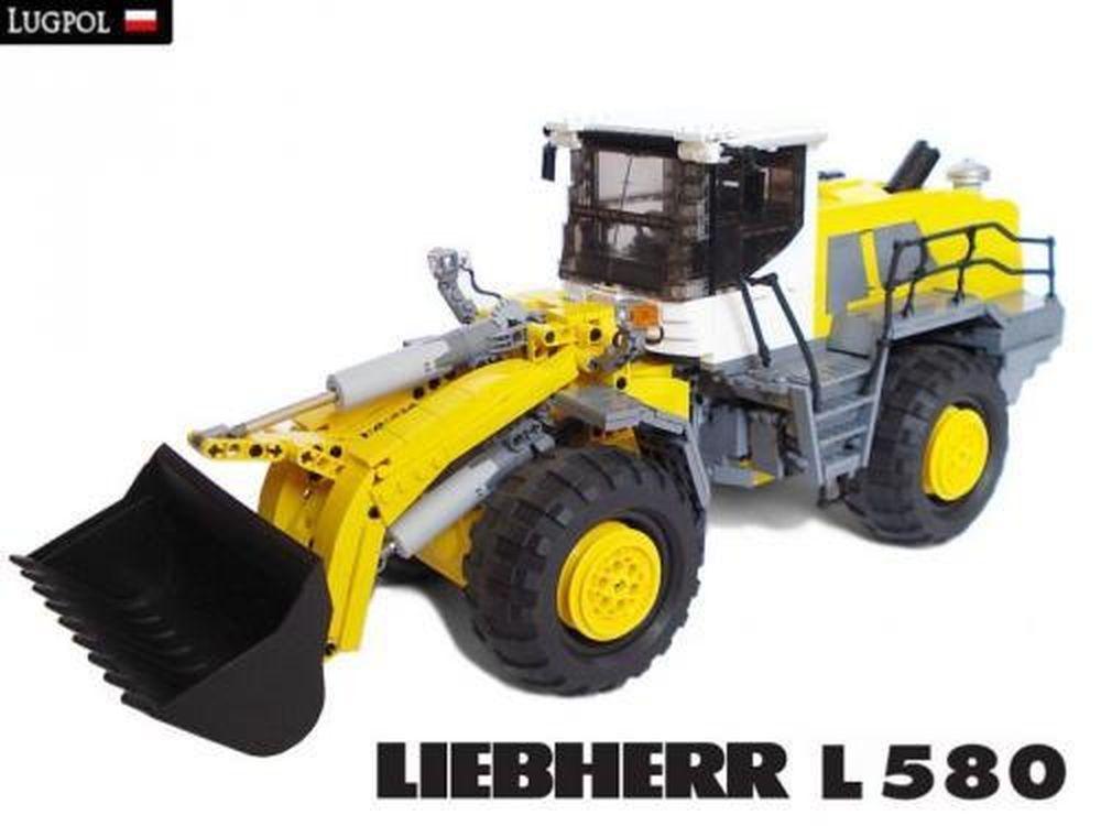LEGO MOC-1255 Liebherr L580 wheel loader (Technic 2009