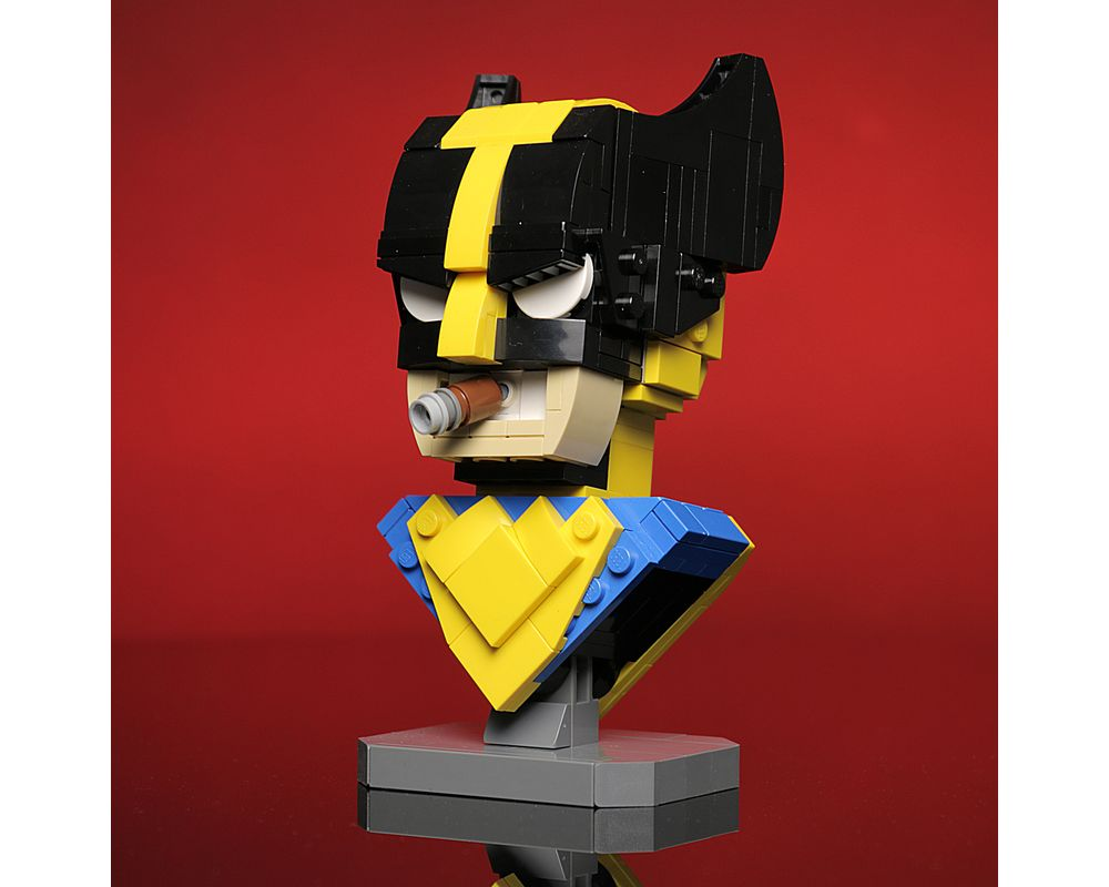 MOVIE SERIES MOC-13217 Wolverine Bust by Buildbetterbricks MOCBRICKLAND