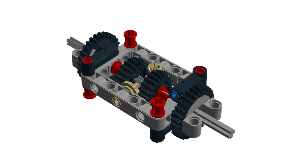 LEGO MOC-13273 Simple differential (Educational and Dacta