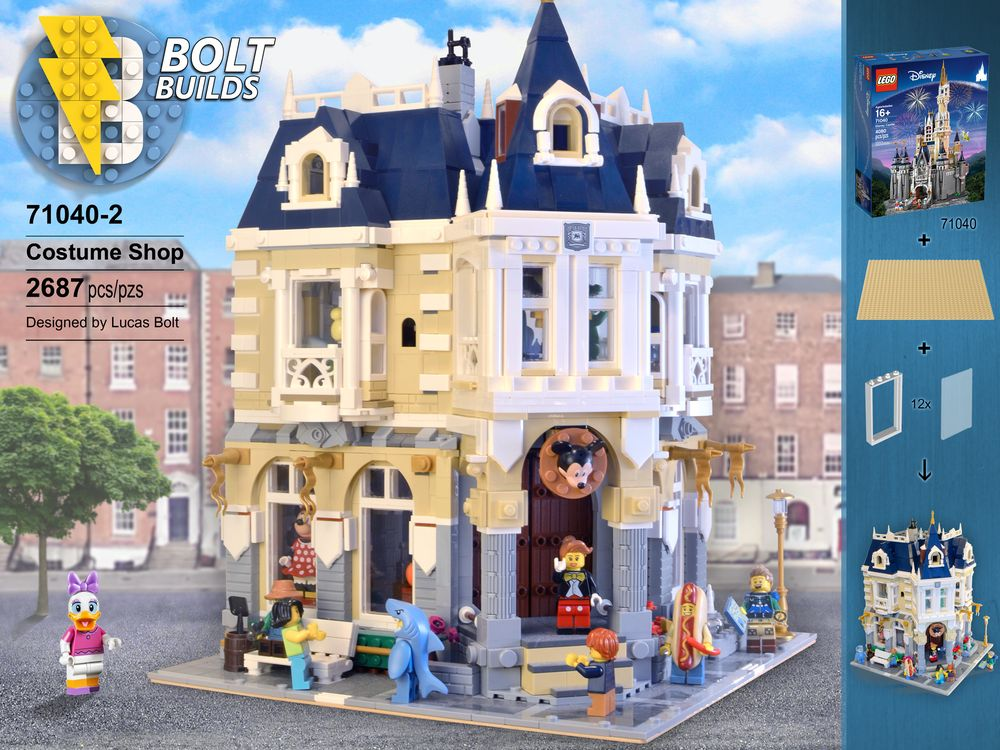 LEGO MOC-14603 The Costume Shop - Alternative to 71040
