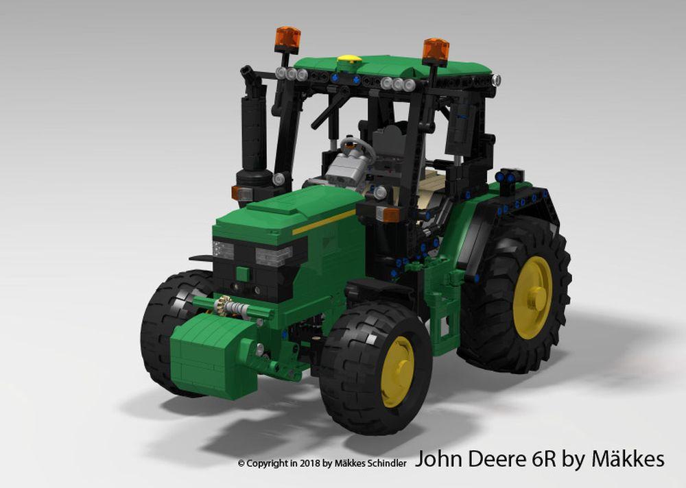 LEGO MOC-14619 John Deere 6R Tractor by Mäkkes (Technic 2019
