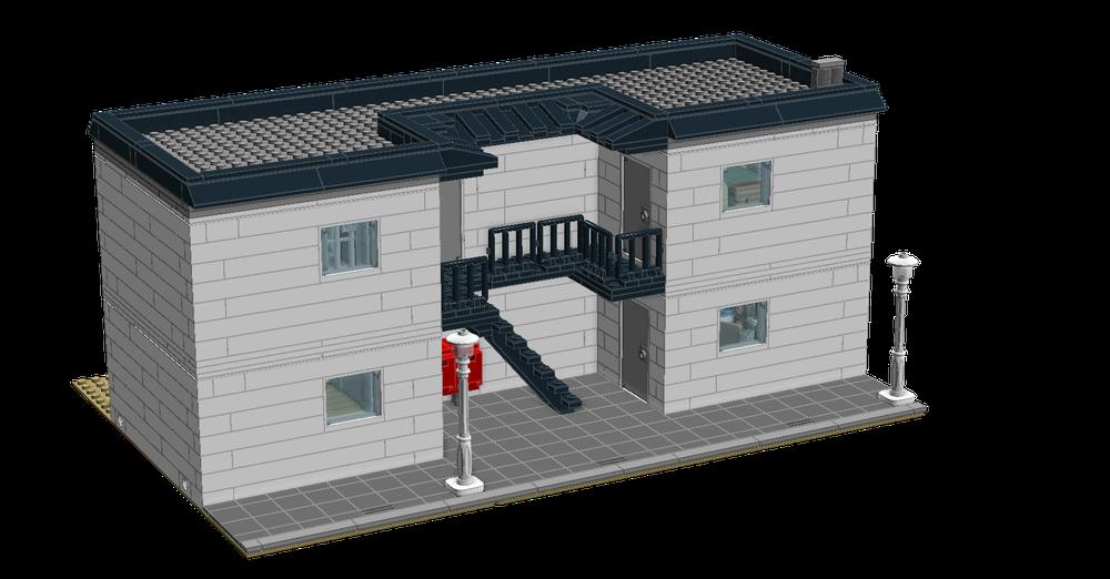 LEGO MOC-15078 Modular apartment building (Modular Buildings ...