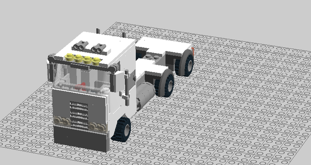 LEGO MOC-15442 Peterbilt 362 cabover (Town > City > Traffic